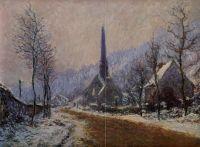 Церковь на Жёфос, снежная погода