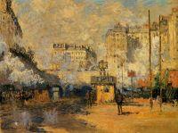 Вид вокзала Сен-Лазар, сонце