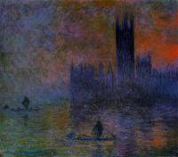 Здание Парламента, эффект тумана