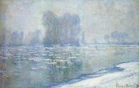 Льдины, туманное утро