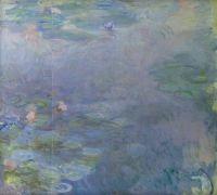 Бледные водяные лилии (фрагмент)