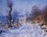 Дорога в Живерни зимой