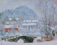Деревня Сандвикен в снегу