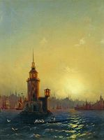 Вид Леандровой башни в Константинополе