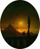 Лунная ночь на берегу моря в Крыму