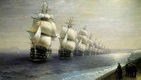Смотр Черноморского флота в 1849 году.