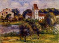 Бретонский пейзаж  - церковь и сад