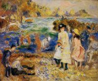 Дети на пляже в Гернси