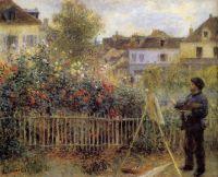 Клод Моне, рисующий в своем саду в Аржантей