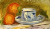 Чашка и апельсины