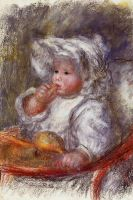 Жан Ренуар в кресле (также известная как Ребенок с печеньем)