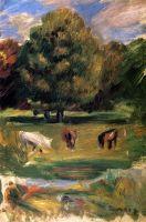 Пейзаж с лошадьми