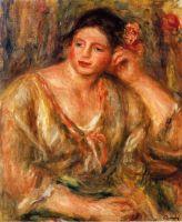 Мадлен, опирающаяся на локоть с цветами в волосах