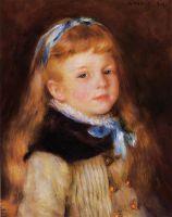 Мадемуазель Гримпрель с синей лентой в волосах