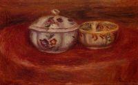 Сахарница и глиняная чаша
