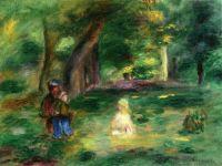 Пейзаж с тремя фигурами