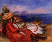 Две маленькие девочки на пляже