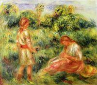 Пейзаж сдвумя девушками