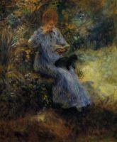 Женщина с черной собакой