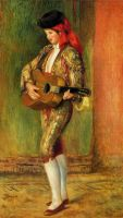 Стоящий молодой гитарист