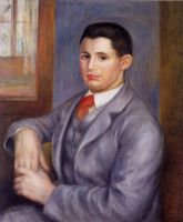Молодой человек в красном галстуке, Портрет Ёжена Ренуара
