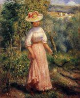 Девушка в красном в поле