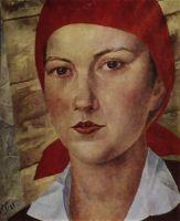 Девушка в красном платке (Работница).