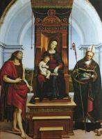 Мадонна с младенцем на троне со св. Иоанном Крестителем и Николаем Мирликийским