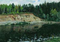 Река. Обрывистый берег