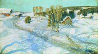 Синий снег