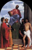 Святой Марк на престоле со святыми