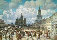 Красная площадь во второй половине XVII века.