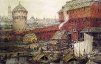 Спасские Водяные ворота Китай-города в XVII веке.