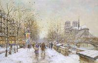 Собор Парижской Богоматери зимой