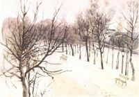 Зубовский бульвар зимой