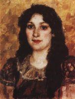 Портрет Елизаветы Августовны Суриковой, жены художника