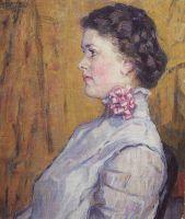 Портрет неизвестной на желтом фоне