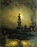 Биржа ночью. Петербург