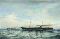 Яхты Держава и Забава (при открытии Морского канала)