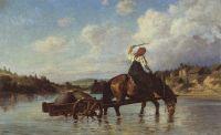 Переправа через реку Оять. С мельницы