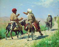 Мулла Рахим и мулла Керим по дороге на базар ссорятся