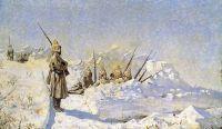 Снежные траншеи (Русские позиции на Шипкинском перевале)