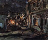 Татарская улица в Ялте. Ночь