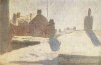 Зимка. Пейзаж с домами