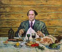 А.Н.Толстой в гостях у художника.
