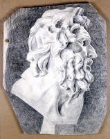 1900 Голова Лаокоона в профиль. Б., ит. к. 55х44,5