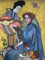 1910 Портрет Евгении Ивановны Киркальди (Дама с китаянкой). Х., м. ГТГ