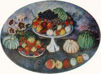 1911 Овальный натюрморт с белой вазой и фруктами. Х., м. 128х168 ЧС, М.