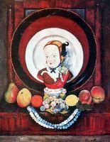 1922 Натюрморт с фарфоровой куклой. Х., м. 76х96 КМРИ