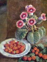 1938 Цветок в горшке и клубника. Х., м. 63х52 Волгоград